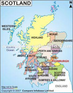 Scottish Cities Map