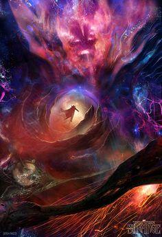 Dr Strange Concept Art by Josh Nizzi Marvel Doctor Strange, Marvel Comic Character, Marvel Characters, Marvel Heroes, Marvel Avengers, Captain Marvel, Concept Art World, Marvel Villains, Marvel Films
