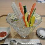 富士山茶屋 - 料理写真:特製てっせんカレー¥1200 に付いて来る野菜スティック