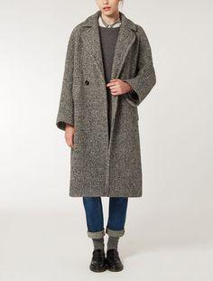 Wool knop coat