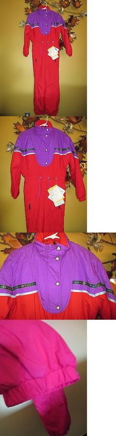 Snowsuits 62178: Vtg Nwt Obermeyer Neon Red 1 Piece Insulated Ski Suit Teen Juniors 16 Snowsuit -> BUY IT NOW ONLY: $34.99 on eBay!
