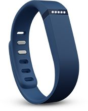 Fitbit® Flex™ tracks steps, distance, calories burned. At night, it tracks sleep quality and wakes you in the morning.