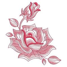 Sketched Roses embroidery design