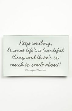 Ben's Garden 'Keep Smiling' Trinket Tray available at #Nordstrom  @Amanda McManus made me think of you!