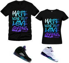 Men's GRAPE BLACK crew neck t-shirt designed for Air Jordan Retro V 5