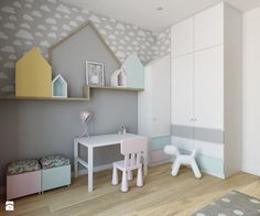 Wilanów - 100m2 - Średni pokój dziecka dla chłopca dla dziewczynki dla malucha, styl skandynawski - zdjęcie od TutajConcept