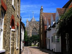 The view from the front door of  Henry James' Lamb House, Rye by UGArdener, via Flickr