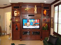 Built in entertainment center idea