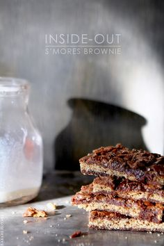 -MUST TRY TO MAKE THIS!!!!  Inside-Out Smores Brownies from Bakers Royale