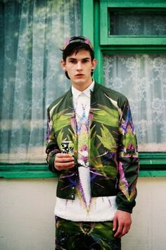 men, palm print, palmen anzug, jacke, blazer,