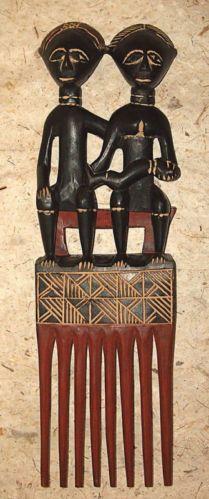 African Akan Wedding Comb new Fair Trade Africa Statues, Afro Comb, Tribal Hair, African Artwork, Adinkra Symbols, Aztec Warrior, Art Africain, Hair Combs