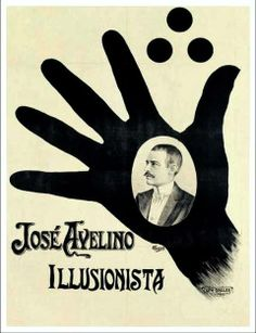 Poster for a magician, another great use of photography and simple graphics, for an eye-catching effect.