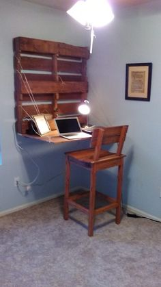 Folding Pallet Computer Desk / Chair Pallet Benches, Pallet Chairs & Pallet…