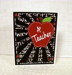 Ann Greenspan's Crafts: Another Teacher's Apple Sunburst Card