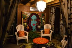 i love this painting.   patio night by allaboutevelyn, via Flickr