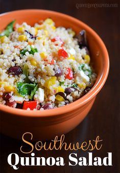Southwest Quinoa Salad. A fresh side dish to replace rice and beans. Click through for the recipe... Queen Bee Coupons