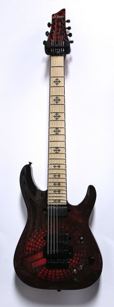 Schecter Jeff Loomis Signature JL-7 FR S Special Edition 7-String Electric Guitar - 2-Tone Sunburst w/ Graphic