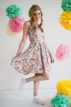 50's style floral dress