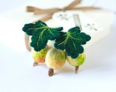 Felted berries brooch Berry pin Gooseberry brooch Woodland brooch Handmade felted jewelry Unique gift for woman Chistmas gift ideas for Her