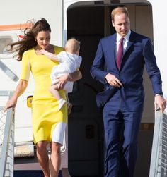 """The Royals Touch Down in Australia - Prince William Says Kate """"Looks Like a Banana"""" - ELLE"""