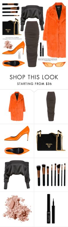 """""""OOTD"""" by gigi-lucid ❤ liked on Polyvore featuring MSGM, Rick Owens, Casadei, Prada, Anthony Vaccarello, M.O.T.D Cosmetics, Bobbi Brown Cosmetics, Industrie, Giorgio Armani and StreetStyle"""