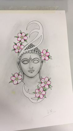 Tweak it tho Buddha Drawing, Buddha Painting, Buddha Art, Kerala Mural Painting, Indian Art Paintings, Madhubani Painting, Buddha Tattoos, Pencil Art Drawings, Art Drawings Sketches