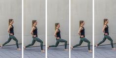 No Bare Barre Workout - 2 count lunges