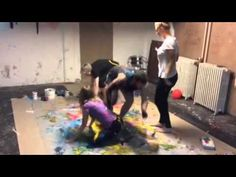 Action Paining movie - Study Group doing Action Painting