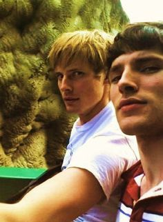gonna miss the show 'Merlin'  :( but hope to see these guys in other projects..:)  actors Colin Morgan and Bradley James