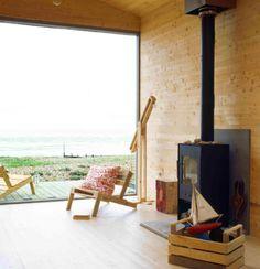 Moderna cabaña de playa