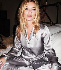 4bba6e17fc Ain t nothin  like a pj party  Kate Moss  dose Topshop Lingerie · Topshop  LingeriePyjama SatinSilk PjsSatin ...