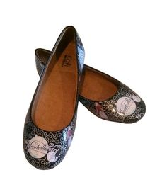 Alice In Wonderland Inspired Flats / Hand by WiseGalCustoms