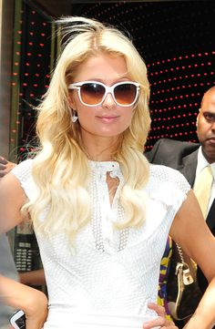 Paris Hilton...something white