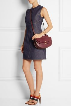 Chloé|Georgia small leather shoulder bag|NET-A-PORTER.COM