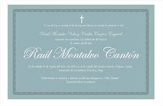 Invitacion Bautizo Raulito