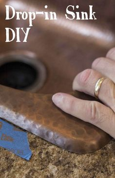 Replacing a drop-in kitchen sink? Check out our blog for our DIY step by step video on how to replace your old kitchen sink with a beautiful new copper sink!