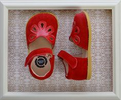 Livie and Luca Girls Red Petal Shoes in Suede $58.00