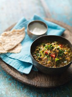 Green Lentil Curry with Kale - The Happy Foodie