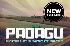 Padagu Typeface by Niram Factory on @creativemarket