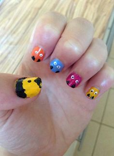Pac-man inspired nails