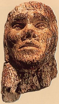 The Mammoth Ivory Male head from Dolni Vestonice, Cro-Magnon period