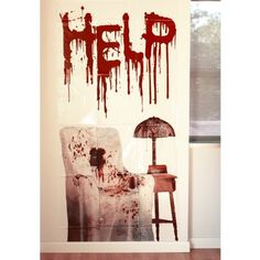 Cool Horror Wand Deko Schocker Poster Folie Psycho