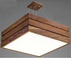 Resultado de imagem para lustre de madeira