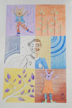 #Illustrazione ad #acquerello originale di #LabLiu su #Etsy #kid #bambini #uomo #man #donna #girl