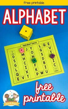 Editable ABC Board Game This printable alphabet board game will help your kids practice important literacy skills like letter recognition and letter sounds. The best thing about this alphabet game is that you can quickly and easily customize it. Head to the blog to grab your free copy! I can't even begin to describe what a game changer editable games are in the classroom! You can use these games during literacy centers or small group time. #preschool #alphabet #alphabetgame