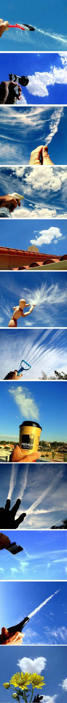 Forced perspective shots - Playing With Clouds Forced Perspective Photography, Perspective Photos, Experimental Photography, Creative Photography, Amazing Photography, Photography Tips, Artistic Photography, Digital Photography, Cool Pictures