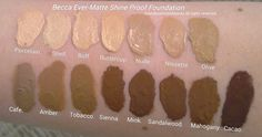 becca ever matte shine proof foundation mahogany - Google Search