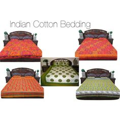 """""""Indian Cotton Bedding"""" by mogulinteriordesigns on Polyvore"""