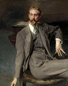 ♀ Painted Art Portraits ♀ Giovanni Boldini | Portrait of the Artist Lawrence Alexander Harrison, 1902
