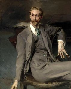 Boldini, Giovanni (1842-1931) - 1902 Portrait of the Artist Lawrence Alexander Harrison (Sotheby's New York, 2004) #TuscanyAgriturismoGiratola